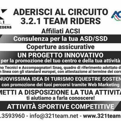 Aderisci al Circuito 321 Team Riders