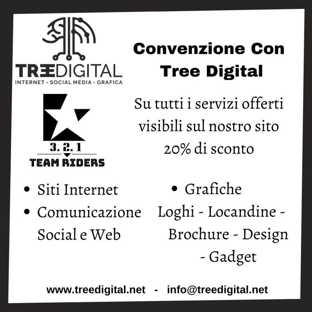 convenzione tra 321 team riders e Tree Digital