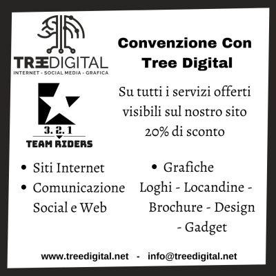 Convenzione Tra 3 2 1 Team Riders e Tree Digital per servizi Digitali