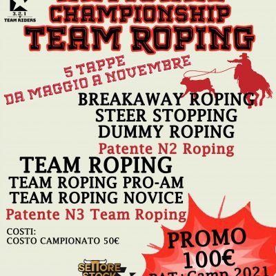 Presentazione National Championship Team Roping 2021