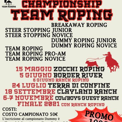 Calendario National Championship Team Roping 2021
