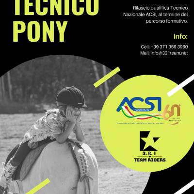 Corso di Formazione professionale Tecnico Pony – ACSI & 3 2 1 Team Riders